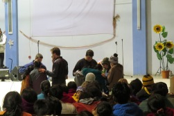 Praying in the village church